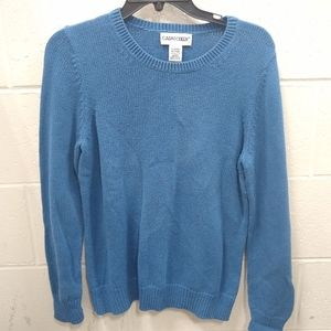 Cabin Creek blue cotton sweater size m